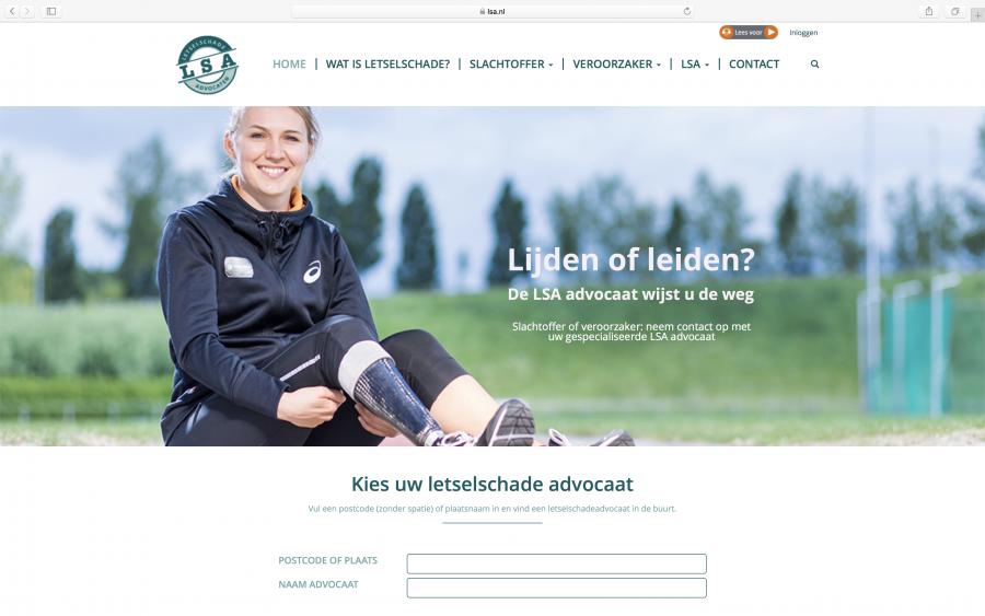 Nieuwe website LSA